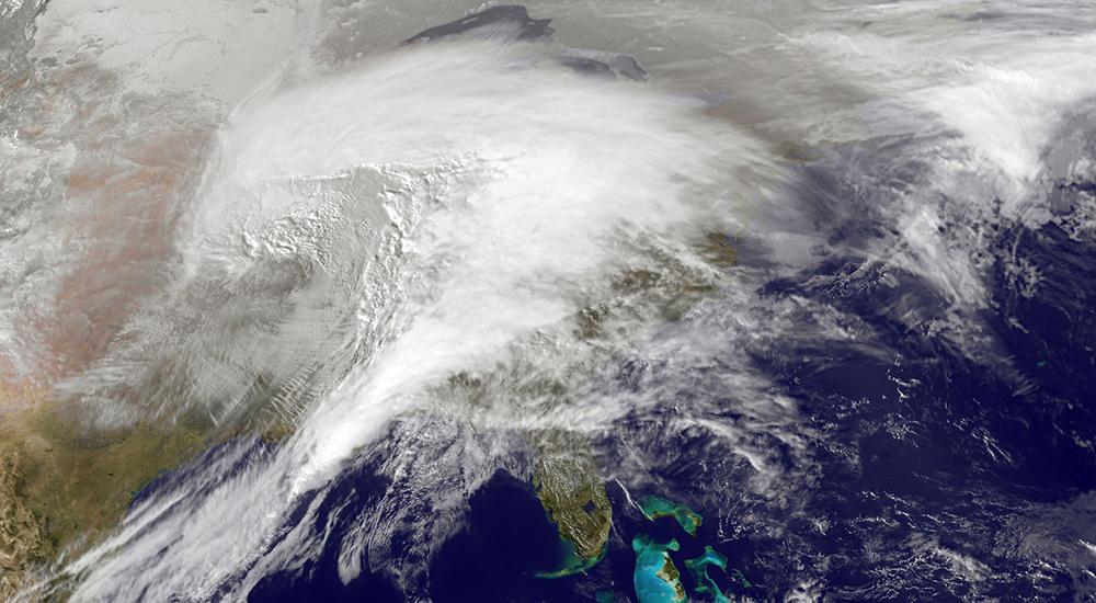 Satellite View of a Hurricane